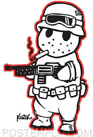 Kozik Gun Bunny Sticker Image
