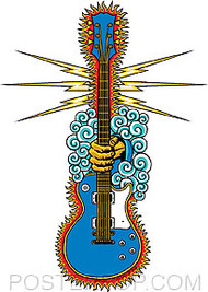 Almera Gods Guitar Sticker Image