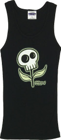 Tara McPherson Skull Flower Woman's Baby Doll Tee and Boy Beater Tank