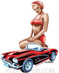 Almera 50s Vette Sticker Image