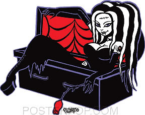 Pigors Coffin Cutie Sticker Image