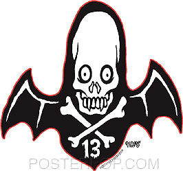 Pigors 13 Bat Sticker Image