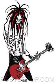 Pigors Evil Rocker Sticker Image