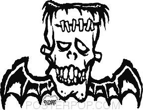 Pigors Frankenbat Sticker Image