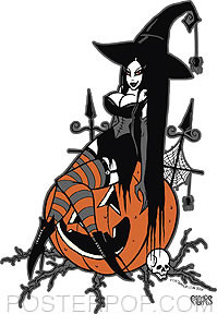 Pigors Halloween Queen Sticker Image