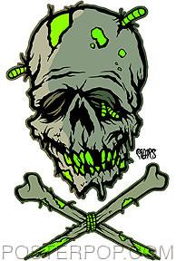Pigors Zombie Skull Sticker Image