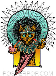 Jermaine Aztek Cat Sticker Image