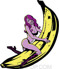 Hampton Banana Girl Sticker Image