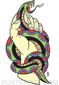 Pop Industries Snake In Hand Sticker Image