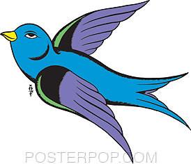 Pop Industries Sparrow Sticker Image
