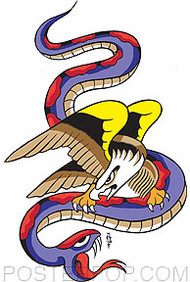 Pop Industries Eagle And Snake Sticker Image