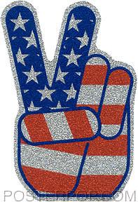 Pop Industries Hand Glitter Sticker Image