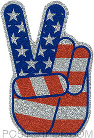 Pop Industries Hand Glitter Sticker Image