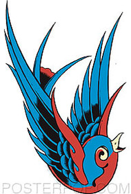 Pop Industries Blue Bird Sticker Image