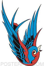 Pop Industries Blue Bird Sticker Image