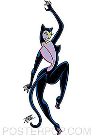 Pizz Cat Woman Sticker Image