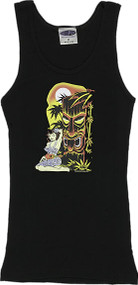 Vince Ray Hula Tiki Woman's Boy Beater Tank Top