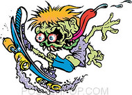 Pizz Skate Kid Sticker Image