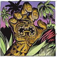 Pizz Tiki Hand Sticker Image