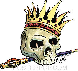 Pizz Skull King Sticker Image