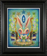 Aaron Marshall Magic Bunny Fine Art Print on Velvet Fine Art Paper Framed, Image