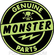 Artist Robert Kruse Genuine Monster Parts Sticker by Poster Pop. 1960's Ed Roth spoof on Genuine Stolen (Ford) Parts.