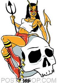 Scojo Devil Doll Sticker Image