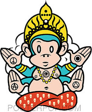 Scrojo Monk E Sticker Image