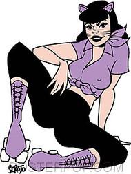 Scrojo Cat Girl Sticker Image