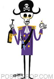 Shag Retired Pirate Sticker Image