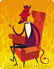 Shag Lounge Devil Sticker Image