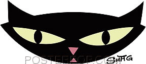 Shag Pop Cat Sticker Image