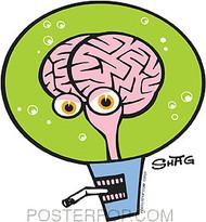 Shag Space Brain Sticker Image