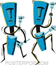 Shag Tiki Drummers Sticker Image