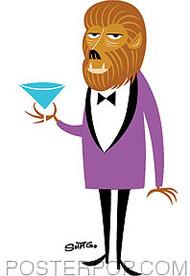 Shag Martini Wolf Sticker Image