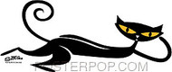 Shag Lounging Cat Sticker Image