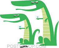 Shag Mocking Gators Sticker Image
