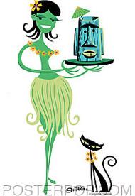 Shag Green Wahini Sticker Image
