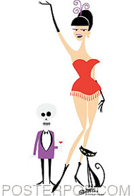 Shag Burlesque Girl Sticker Image