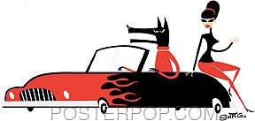 Shag Cruisin Wolf Sticker Image