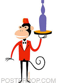 Shag Monkey Valet Sticker Image
