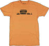 Shag Caravan T Shirt Orange