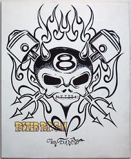 Von Franco Original Blackline and Colorup Drawing - Piston Devil Image