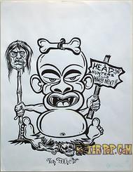 Von Franco Original Blackline and Colorup Drawing - Head Hunters Club Image