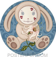 Tara McPherson Bunny Kisses Sticker Image