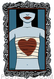 Tara McPherson Bandage Heart Sticker Image