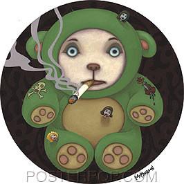 Tara McPherson Smoking Bear Sticker Image