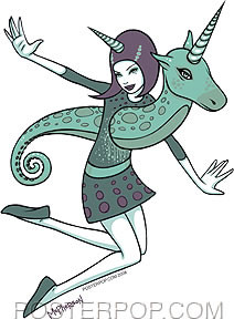 Tara McPherson Unicorn Girl Sticker Image