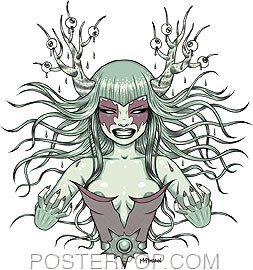 Tara McPherson Metal Hands Sticker Image