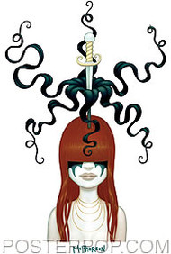 Tara McPherson Flower Head Sticker Image